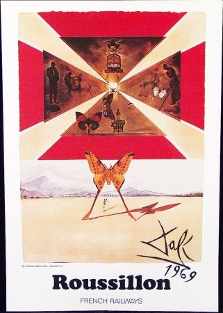 Poster Dali - FRENCH RAILWAYS  ROUSSILLON