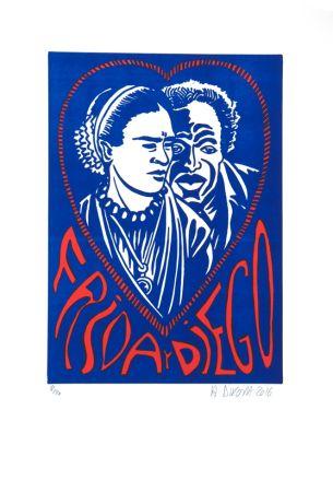 Lithograph Di Rosa - Frida Y Diego