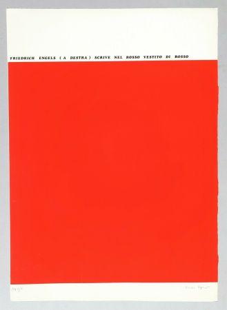 Screenprint Isgro - Friedrich Engels (a destra) scrive nel rosso vestito di rosso