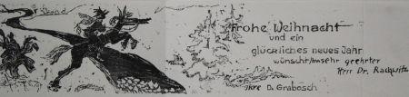 Woodcut Grabosch - Frohe Weihnacht
