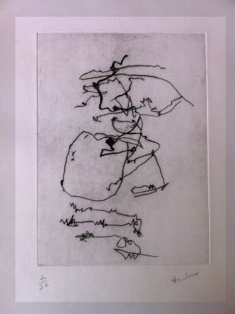 Drypoint Hucleux - From carnet n°15