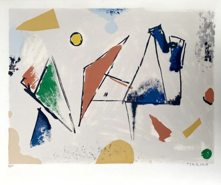 Lithograph Marini -  From Color to Form VIII