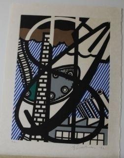 Etching And Aquatint Lichtenstein - From la nouvelle chute de l'amerique