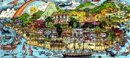 Screenprint Fazzino - From Maui With Love