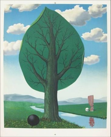 Lithograph Magritte -  From the painting