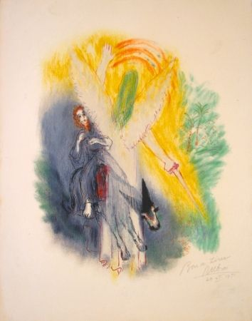Lithograph Rubin - From the Portfolio Visions of the Bible