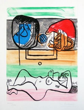 Etching And Aquatint Le Corbusier - From Unite Suite #11a