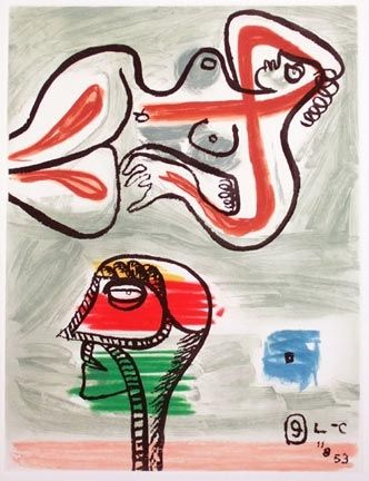 Etching And Aquatint Le Corbusier - From Unite Suite #9