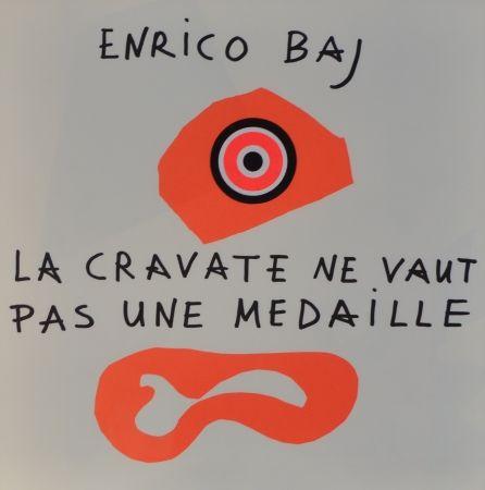 Lithograph Baj - Frontespizio – La cravate ne vaut pas une médaille