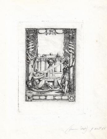 Etching Meryon - Frontispice pour le catalogue de l'oeuvre de Thomas de Leu