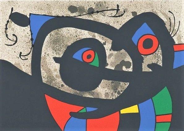 Lithograph Miró - Frontispiece from Le Lézard aux plumes d'or