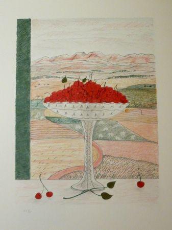 Lithograph Girona - FRUITERA I CIRERES