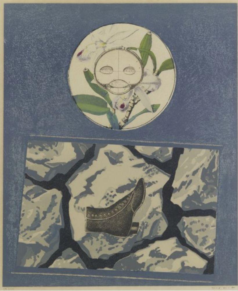 Lithograph Ernst - Fruits défendus