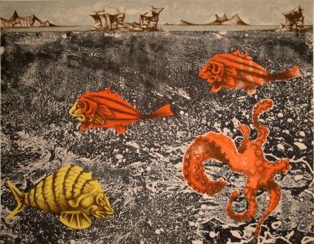 Lithograph Lurcat - Fruits de mer