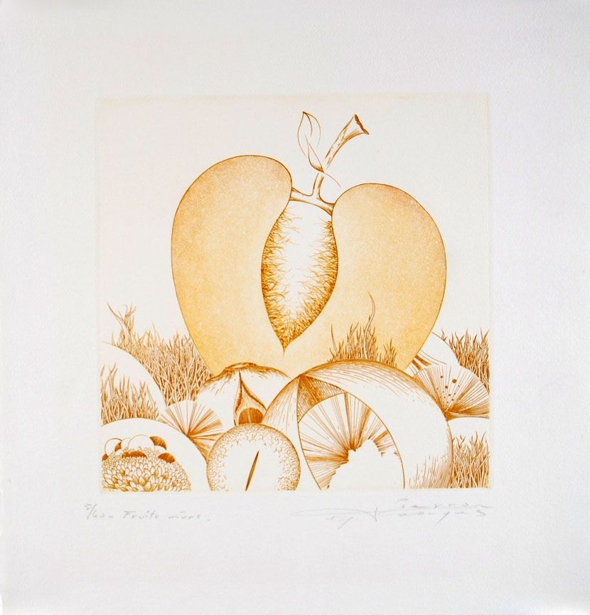 Etching And Aquatint Pierron - Fruits Mûrs