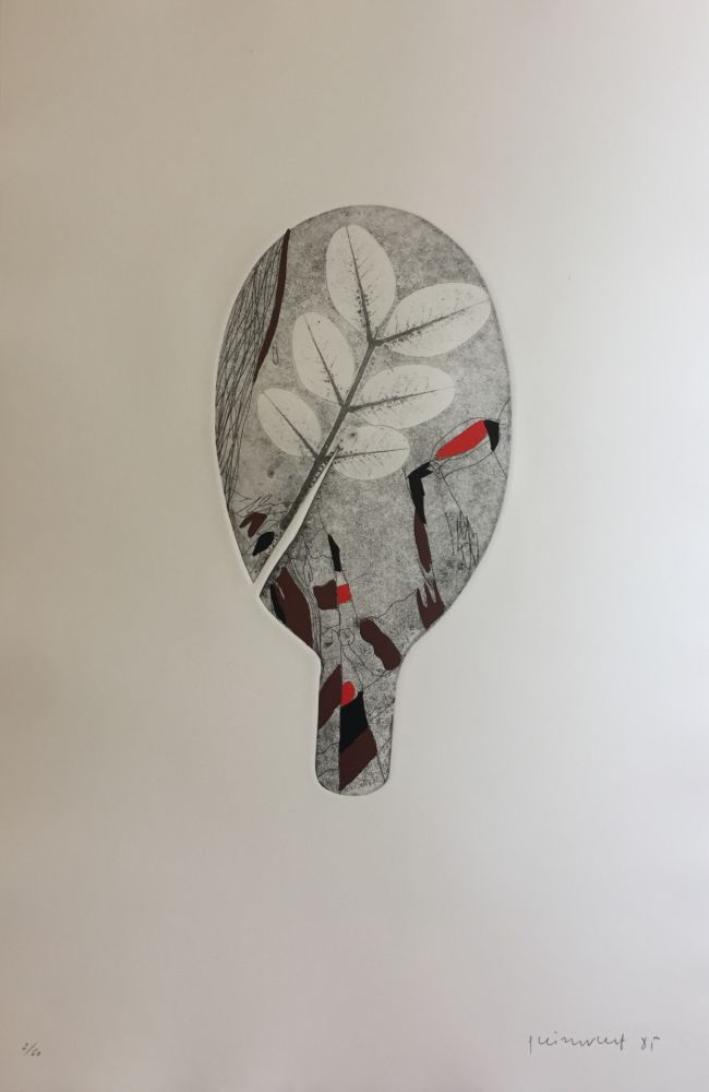 Etching Guinovart - Fulles 8