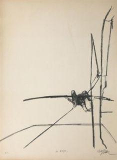 Lithograph Szafran - Funambule