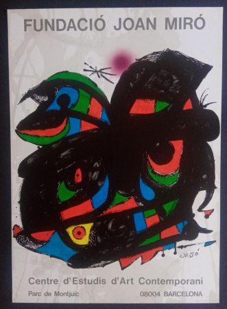 Poster Miró - Fundació Joan Miró - Opening 1976