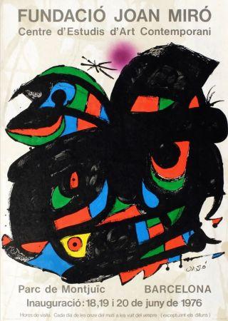 Poster Miró - FUNDACIO JOAN MIRO - INAUGURACIO. BARCELONA. Affiche originale de 1976.