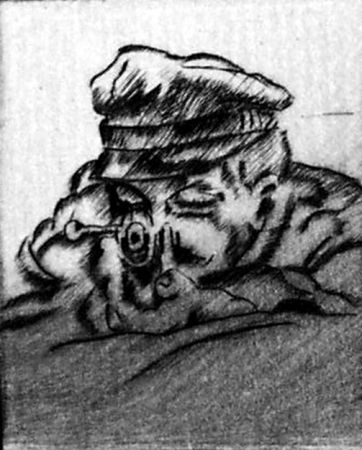 Drypoint Bucci - Fusilier