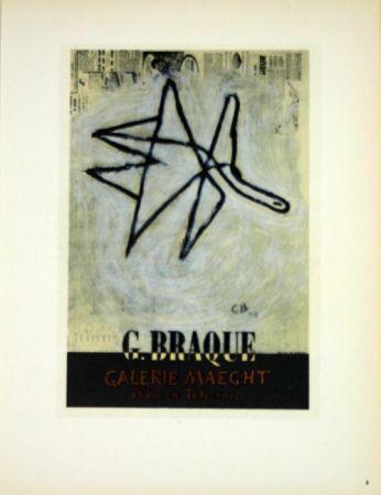 Lithograph Braque - G Braque  Galerie Maeght  1956