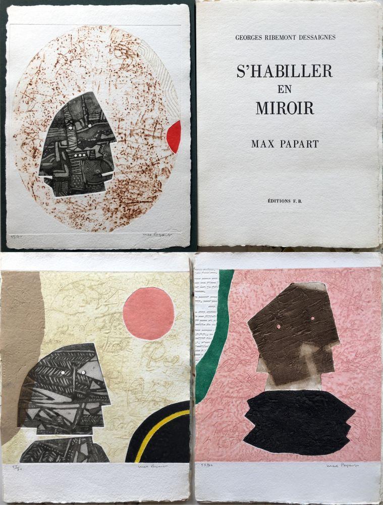 Etching And Aquatint Papart - G. Ribemont Dessaignes : S'HABILLER EN MIROIR (1977).