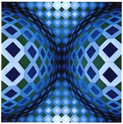 Screenprint Vasarely - Gaia VY - 47 G, from Gaia series