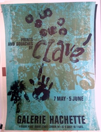 Poster Clavé - Galeria Hachette 7 May 5 Jun