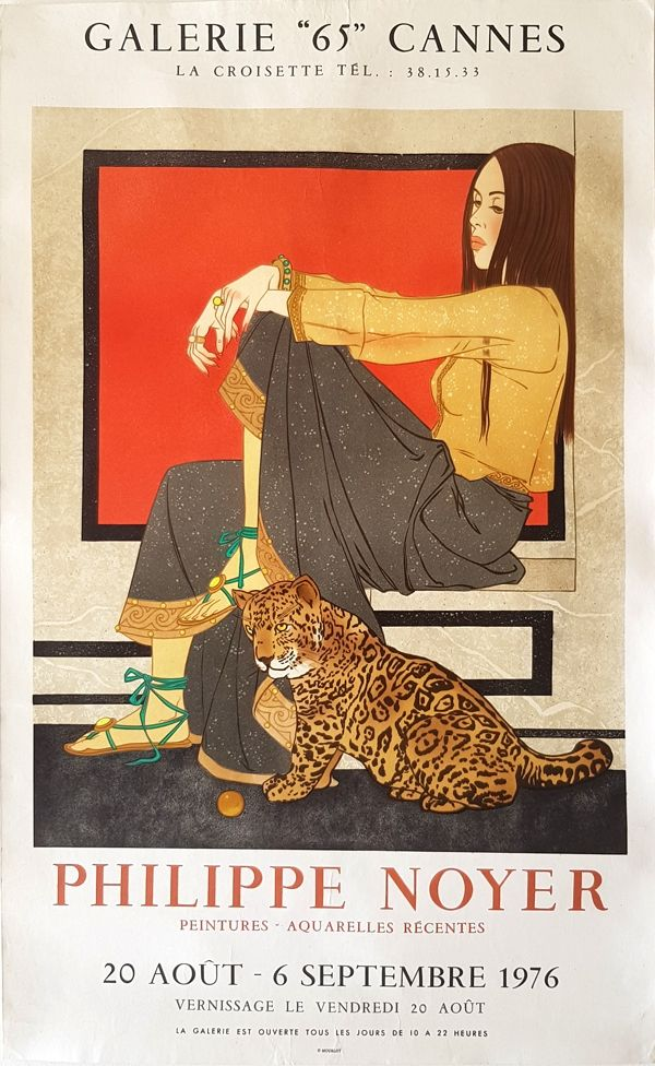 Lithograph Noyer - Galerie 65 Cannes