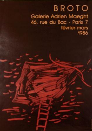 Lithograph Broto - Galerie  Adrien Maeght