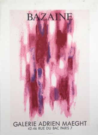 Lithograph Bazaine - Galerie Adrien Maeght