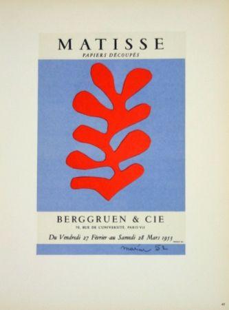 Lithograph Matisse - Galerie Berggruen 1953