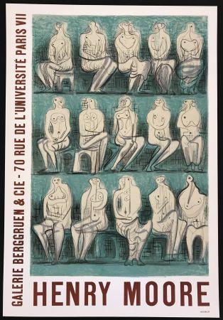 Poster Moore - Galerie Berggruen & Cie (Seated Figures)