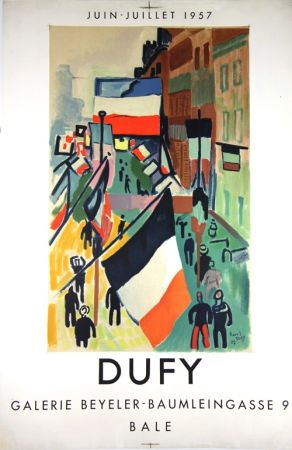 Lithograph Dufy - Galerie Beyeler   Bale