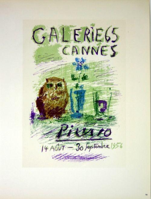 Lithograph Picasso (After) - Galerie de Cannes