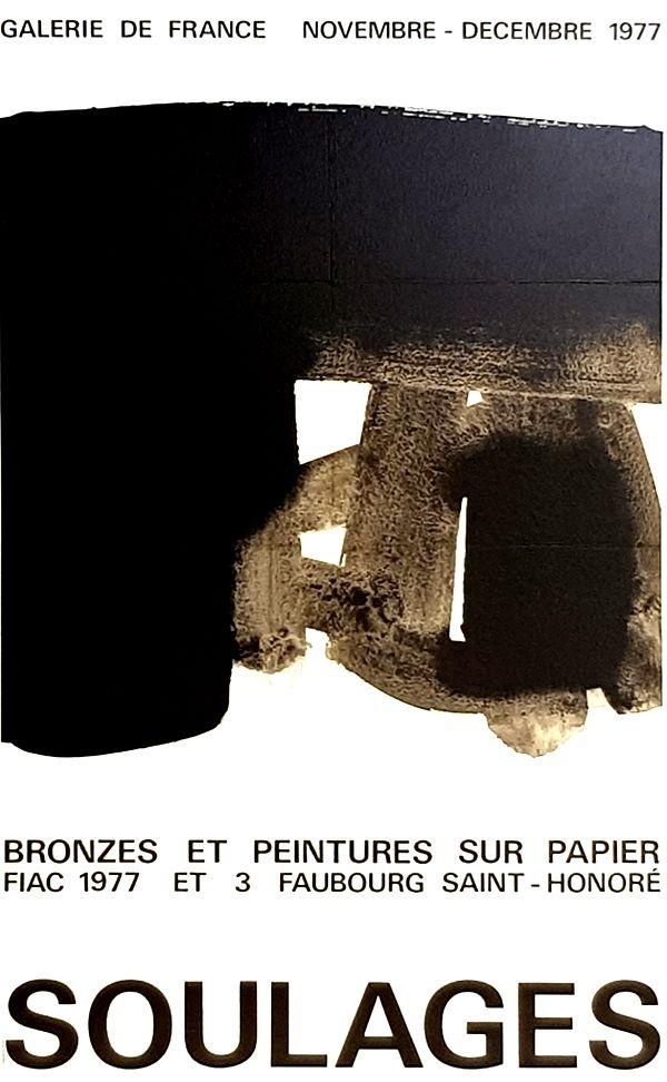 Offset Soulages - Galerie de France    Fiac