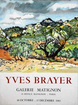 Lithograph Brayer - Galerie de Matignon