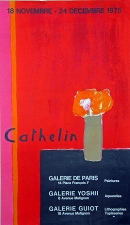 Lithograph Cathelin - Galerie de Paris