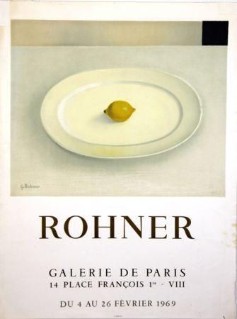 Lithograph Rohner - Galerie de Paris