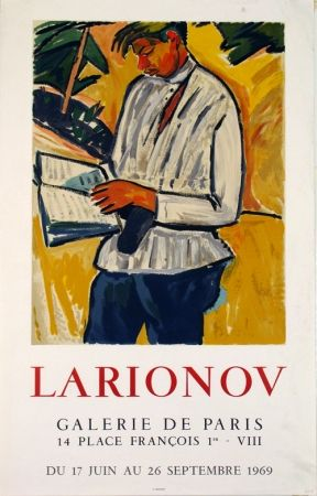 Lithograph Larionov - Galerie de Paris