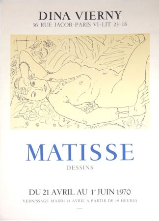 Lithograph Matisse - Galerie Dina Vierny