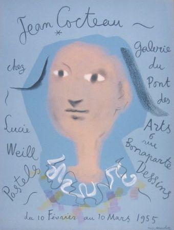 Lithograph Cocteau - Galerie du Pont des Arts, chez Lucie Weill