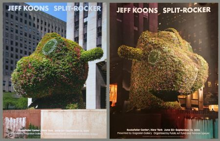 Poster Koons - '' Galerie Gagosian '' NYC