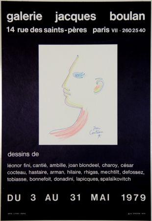 Lithograph Cocteau - Galerie Jacques Boulan
