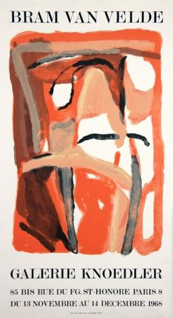 Lithograph Van Velde - Galerie Knoedler