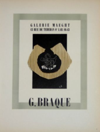 Lithograph Braque - Galerie Maeght