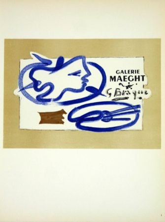 Lithograph Braque - Galerie Maeght