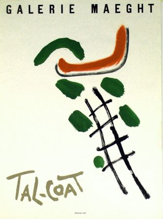 Lithograph Tal Coat - Galerie Maeght