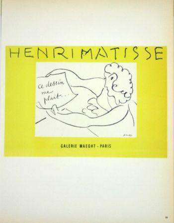 Lithograph Matisse - Galerie Maeght  Ce Dessin me Plait