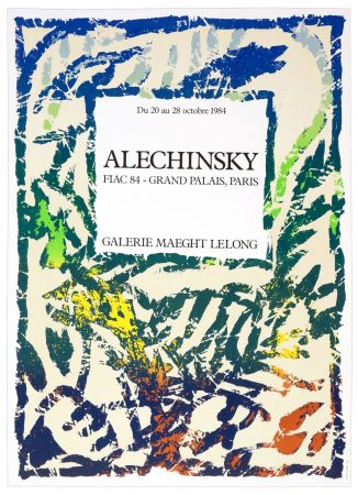 Poster Alechinsky - Galerie Maeght Lelong, Alechinsky, FIAC 84, 1984
